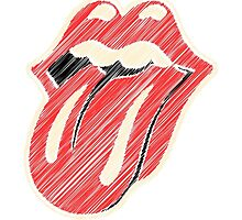 the rolling stones logo doodle style by kokojo