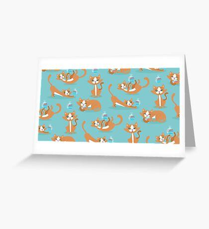 Cute Christmas Cat Greeting Card