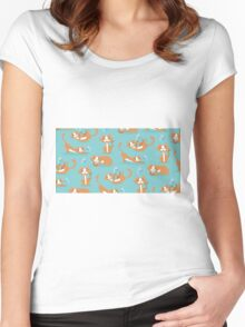 Cute Christmas Cat Women's Fitted Scoop T-Shirt