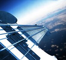 Bass-ship Fenderprise Approaching Earth by Pal Gyomai