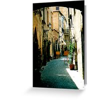 Orvieto Alley, Italy Greeting Card