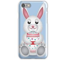 Bunny with Easter egg iPhone Case/Skin