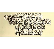 Jabberwock - verse 2 Photographic Print