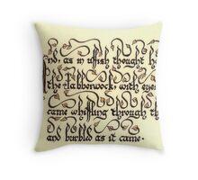Jabberwock - verse 4 Throw Pillow