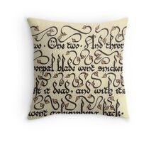 Jabberwock - verse 5 Throw Pillow
