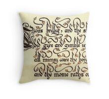 Jabberwock - verse 7 Throw Pillow