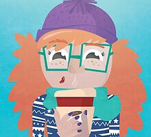 Winter Coffee Girl  by carinapope
