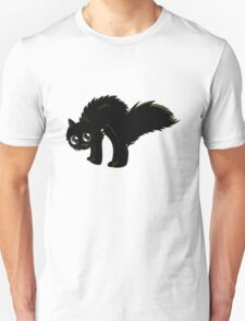 Cartoon black kitten Unisex T-Shirt