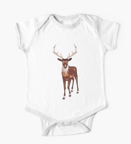 Brown Deer One Piece - Short Sleeve