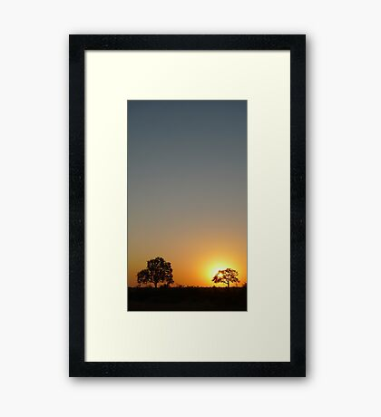 A Kruger Sunrise Framed Print
