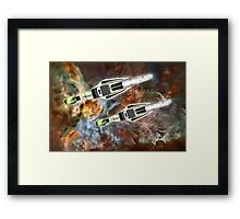 Two Galactic Cruiser/Fighters at NGC 3372  Framed Print