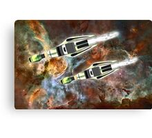 Two Galactic Cruiser/Fighters at NGC 3372 - all products Canvas Print