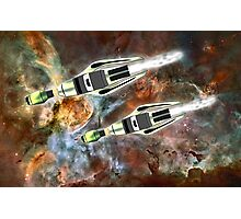 Two Galactic Cruiser/Fighters at NGC 3372  Photographic Print