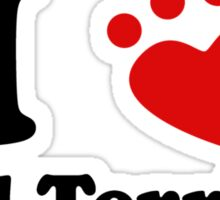 I Heart Bull Terriers Sticker