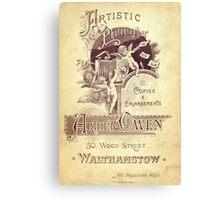 Edwardian Cabinet Card Canvas Print