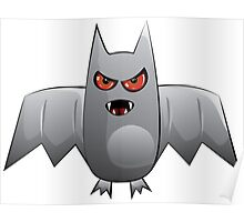 Cartoon bat Poster