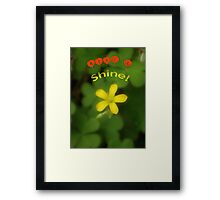 Rise & Shine! Framed Print