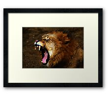 Raw Majestic Power Framed Print