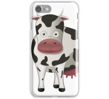 Cartoon black and white cow iPhone Case/Skin