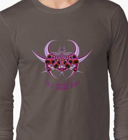 Fractal Insect Long Sleeve T-Shirt