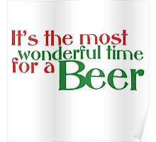 Funny Christmas Beer Parody Poster