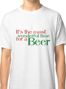 Funny Christmas Beer Parody Classic T-Shirt