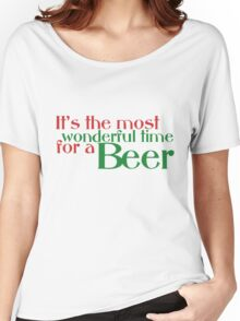 Funny Christmas Beer Parody Women's Relaxed Fit T-Shirt