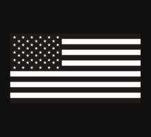 American Flag, STARS & STRIPES, USA, America, Americana, Funeral, Mourning, in Mourning, Black on Black T-Shirt