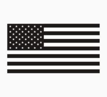 American Flag, STARS & STRIPES, USA, America, Americana, Funeral, Mourning, in Mourning, Black on Black Kids Clothes