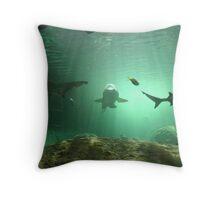 Submarinal World Throw Pillow