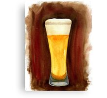 Beer in Glass Canvas Print
