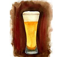 Beer in Glass Photographic Print