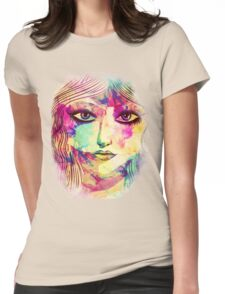 Beauty girl face Womens Fitted T-Shirt