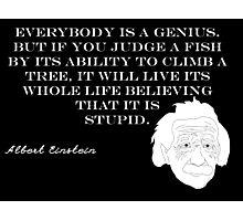 Genius - Albert Einstein Photographic Print