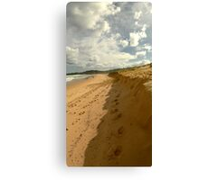 Dust the sand off your feet Canvas Print