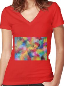 """""""In a Dream No.3"""" original abstract artwork by Laura Tozer Women's Fitted V-Neck T-Shirt"""