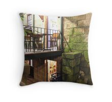 the 2 doors of the gidday cafe' Throw Pillow