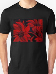 red hot flowers Unisex T-Shirt