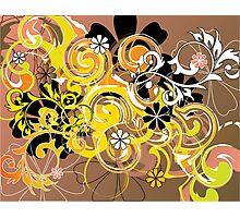 flowers&spirals Photographic Print