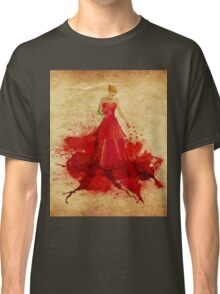 Blonde in dress of paint Classic T-Shirt