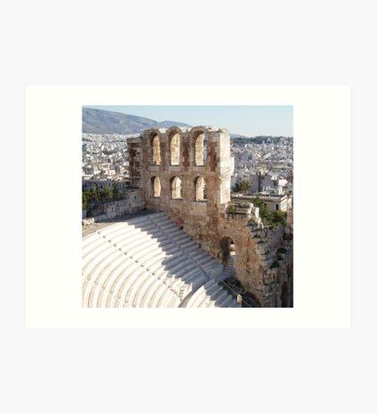 Acropolis Stadium Theater Art Print
