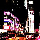 New York City Broadway at night by Vitaliy Gonikman