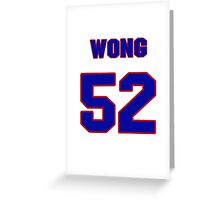 National football player Kailee Wong jersey 52 Greeting Card