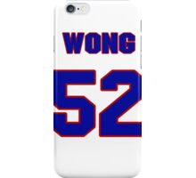 National football player Kailee Wong jersey 52 iPhone Case/Skin