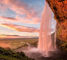 Seljalandsfoss Sunset by George Wheelhouse