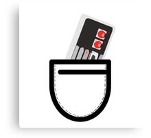 Nes Controller in the Pocket Canvas Print