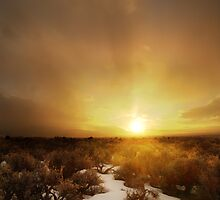 Taos Sunset by Estevan Montoya