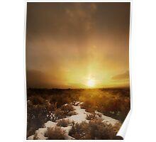 Taos Sunset Poster