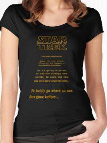 Star Trek Crawl - Next Generation Women's Fitted Scoop T-Shirt