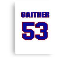 National football player Omar Gaither jersey 53 Canvas Print